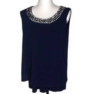 Design History woman's top size large.  Dark Blue